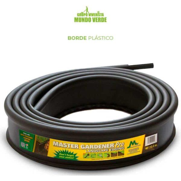 Borde o Liner plástico para jardín