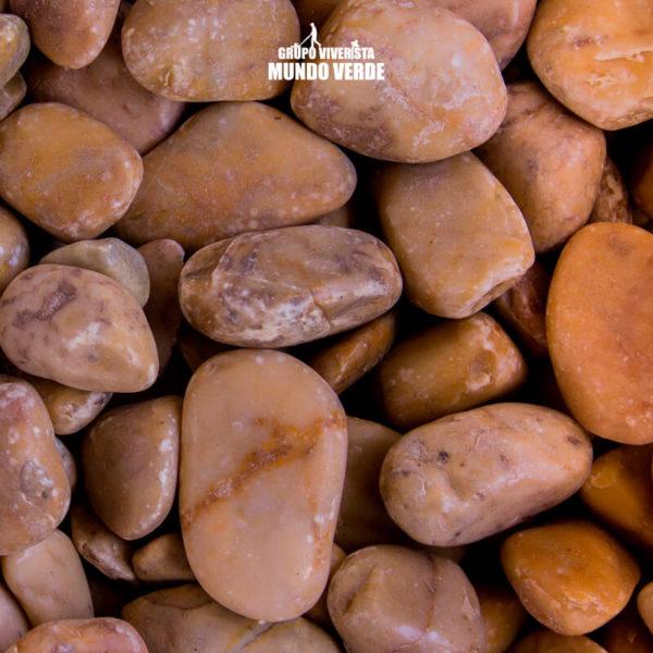 Piedra de mármol amarillo mediana