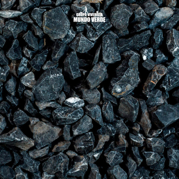Piedra de mármol negro